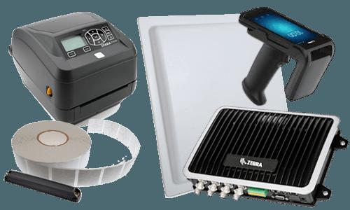 Sprzęt RFID - drukarka, czytnik, kolektor danych, tagi RFID
