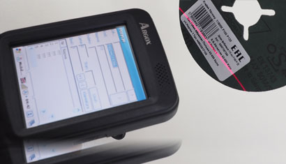 scanning barcode with a handheld reader
